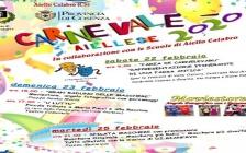 AIELLO CALABRO, 20 FEBBRAIO 2020 - Maschere, sfilate, intrattenimenti musicali, teatro e tradizioni. È tutto pronto per il Carnevale Aiellese 2020