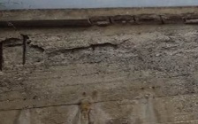 Cadono calcinacci e pezzi di cemento dal ponte di Coreca